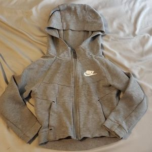 Nike Gray Zippered Sweatshirt
